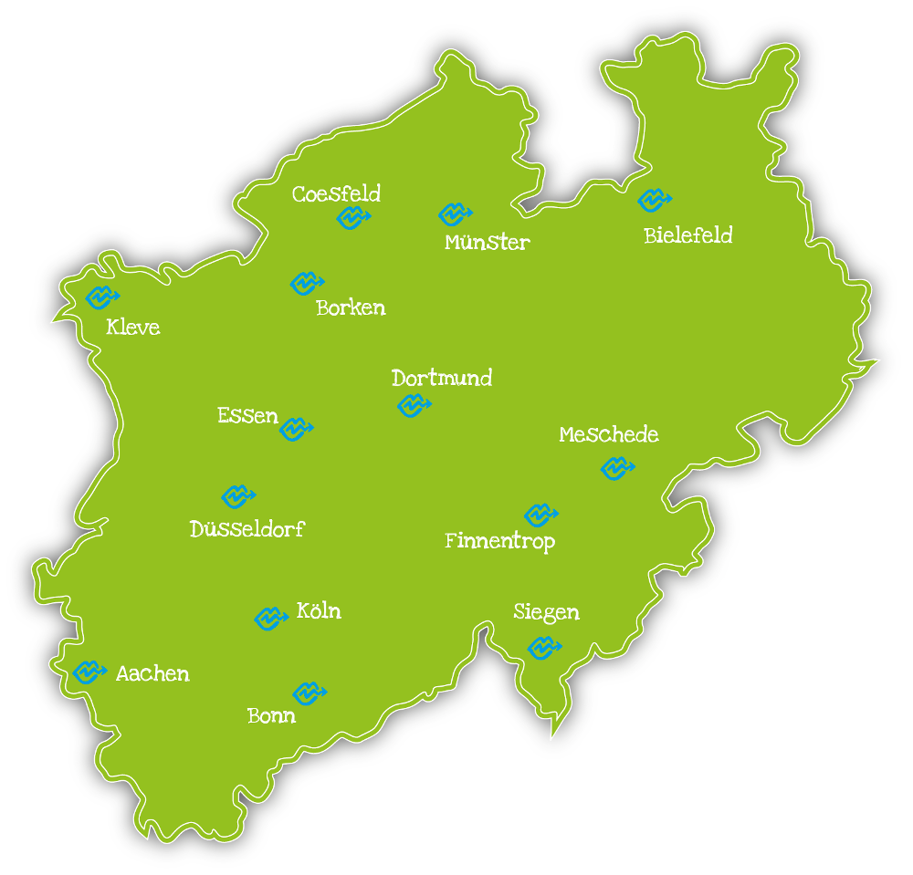 Karte Stotterer Selbsthilfegruppen