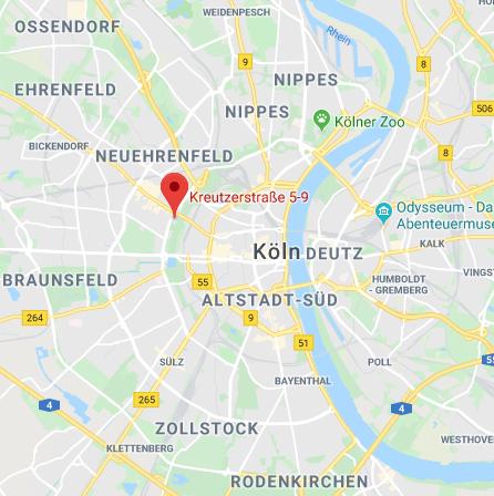 SHG Köln auf Google Maps